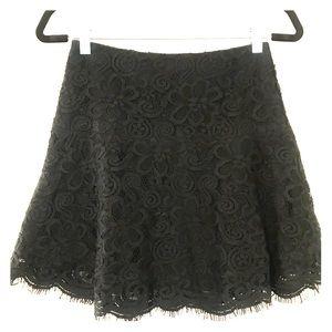 BB Dakota Black Lace Mini Skirt